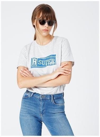 Fabrika Fabrika Nero Gri Melanj Kadın T-Shirt Gri